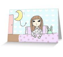 Afraid of the dark / Get well soon Greeting Card