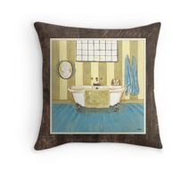 Monique Bath 1 Throw Pillow
