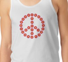 Red peace flower Tank Top