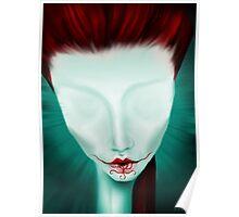 Crimson Lips Poster