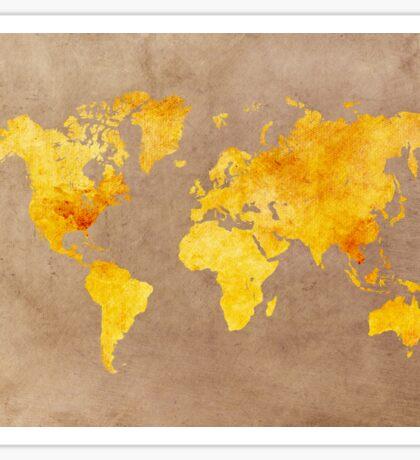 World map gold Sticker