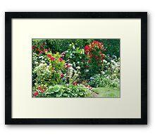 Backyard Blossoms Framed Print