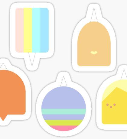 Minimalist Rainicorn Pups - Adventure Time Sticker