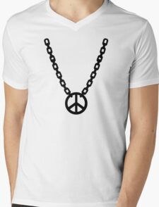Necklace peace Mens V-Neck T-Shirt