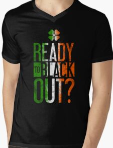 Ready To Black Out Mens V-Neck T-Shirt