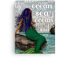 Mermaid Words Canvas Print