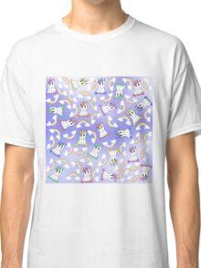 Cute Girly Unicorns and Colorful Rainbows Pattern Classic T-Shirt