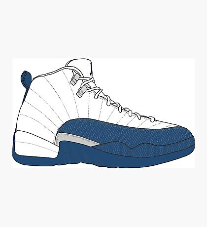 "Air Jordan XII (12) ""French  Blue"" Photographic Print"