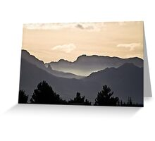 The Far Hills and Valleys Greeting Card