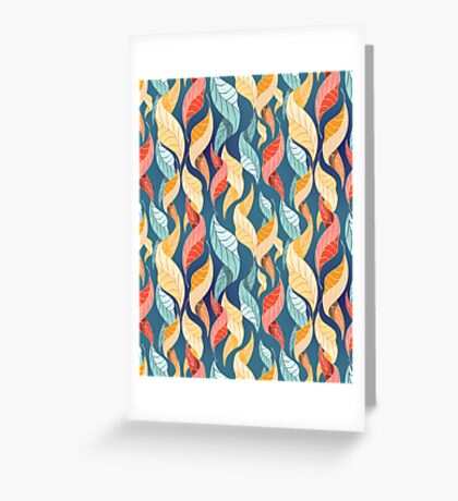 colorful autumn leaves pattern  Greeting Card