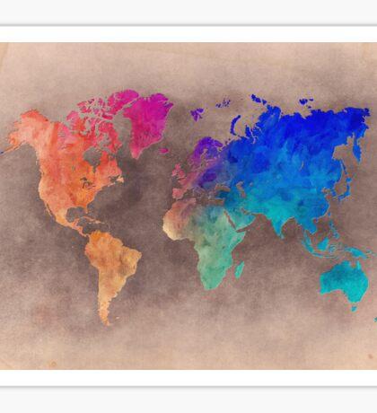World map 5 Sticker