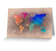 World map 5 Greeting Card