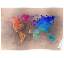 World map 5 Poster