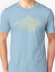 Mellow Yellow Isle of Wight map Unisex T-Shirt