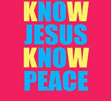 Know Jesus Know Peace Womens Fitted T-Shirt