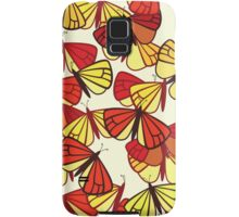 Butterflies, Insects - Red Orange Yellow Black  Samsung Galaxy Case/Skin