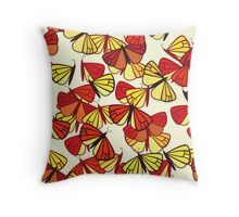 Butterflies, Insects - Red Orange Yellow Black  Throw Pillow