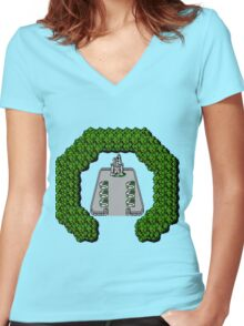 Final Fantasy: Corneria Women's Fitted V-Neck T-Shirt