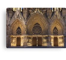 Cathedral of Reims Canvas Print