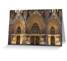 Cathedral of Reims Greeting Card