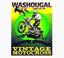 """WASHOUGAL MOTOCROSS"" Vintage Motorcycle Advertising Print Unisex T-Shirt"