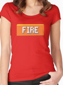 Fire Type Women's Fitted Scoop T-Shirt