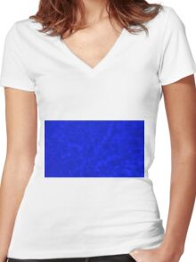 Pool Water - Blue Women's Fitted V-Neck T-Shirt
