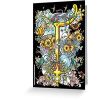 The Illustrated Alphabet Capital T (Fuller Bodied) Greeting Card