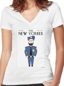 Sikh New Yorker Women's Fitted V-Neck T-Shirt