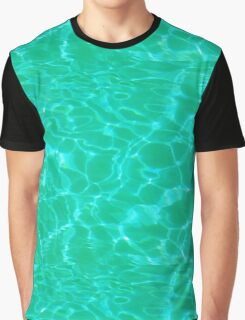 Pool Water - Green Graphic T-Shirt