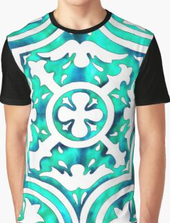 Turquoise Tile  Graphic T-Shirt