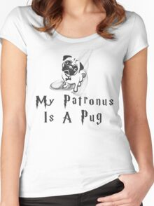 Pug Patronus Women's Fitted Scoop T-Shirt
