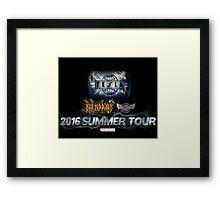 tesla summer tour 2016 Framed Print