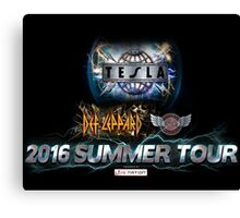 tesla summer tour 2016 Canvas Print
