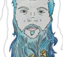 Beard Birds Sticker