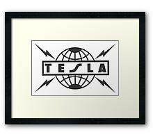 tesla logo Framed Print