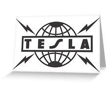 tesla logo Greeting Card