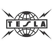 tesla logo Photographic Print