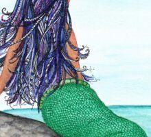 Shy Mermaid full work Sticker