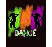 Funky Colorful Modern Pop Art Dance Theme Photographic Print