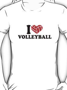 I love Volleyball heart T-Shirt