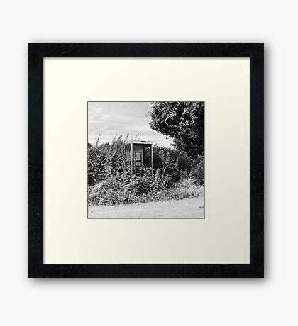 Overgrown Phonebox Framed Print