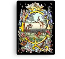 The Illustrated Alphabet Capital Q (Fuller Bodied) Canvas Print