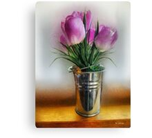 Spring in a Bucket Canvas Print