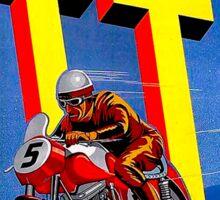 """ASSEN TT MOTORCYCLE"" Vintage Racing Advertising Print Sticker"