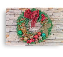 Dreamy Holiday Wreath Canvas Print