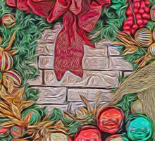 Dreamy Holiday Wreath Sticker