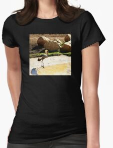 East African Crowned Crane Womens Fitted T-Shirt