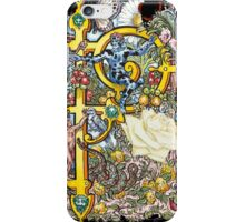The Illustrated Alphabet Capital P (Fuller Bodied) iPhone Case/Skin