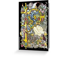 The Illustrated Alphabet Capital P (Fuller Bodied) Greeting Card